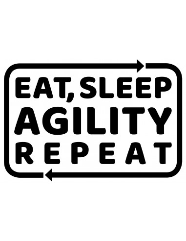 Eat sleep agility repeat-dekal